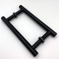 Tiradores T2017: Acabado lacado negro